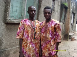 Ousman with a friend